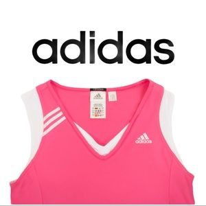 Adidas Pink White Clima 365 Tank Top Runners Top
